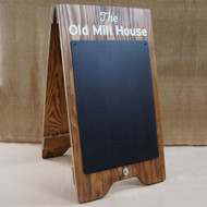 Small Wooden A Board Sign - with blackboard area to both sides