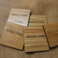 Engraved 5mm Oak Coasters