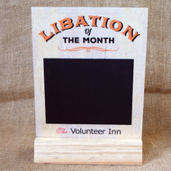 "Pub Signs and Notices - Free standing ""Libation of the month"" pub / bar sign produced from 4mm ply."