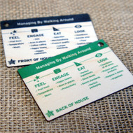 Wooden colour printed business cards on 1.5mm Birch ply.