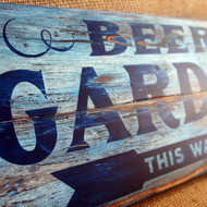Distressed Wooden Signs - painted wooden planks - ideal for a ,vintage rustic look.