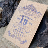 Invitation colour printed directly onto 1.5mm cork.