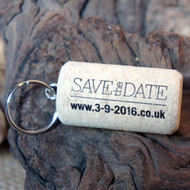 Printed (Black) Cork Keyrings - an ideal promotional item