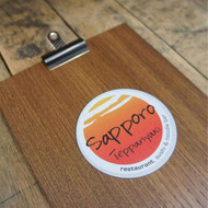 Wooden clipboard & bulldog clip with full colour printed graphics