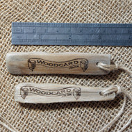 Wooden Engraved Driftwood Keyrings - with twine and split ring.