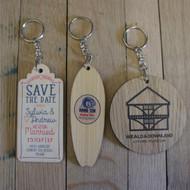 Printed Wooden Promotional Keyrings