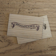 Oak business cards printed on one or both sides