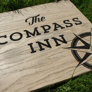 Distressed oak signs - rustic oak signs that are 30mm thick and suitable for external fixing.