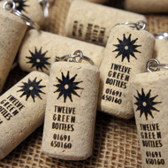 Engraved cork keyrings - ideal promotional giveaways, party favours / favors, wedding favours or save the dates