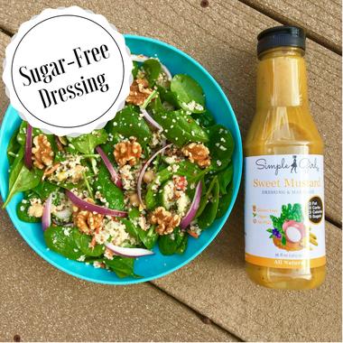 Simple Girl Organic Sweet Mustard dressing is sugar-free and fat-free.