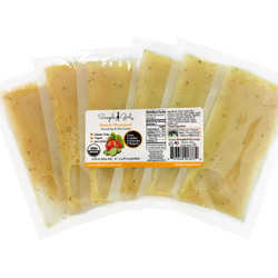 Simple Girl Organic sugar-free Sweet Mustard Salad Dressing in packets! Great for dining on the go.
