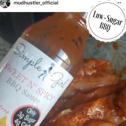 Simple Girl low-sugar BBQ sauce is gluten-free too! And a hot item on social media.