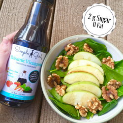 Our very low sugar dressing, Balsamic Vinaigrette, is a rich and tangy addition to your salads and other recipes. Made with great organic Balsamic vinegar imported from Modena, it's an awesome option for Balsamic fans and those who haven't tried it yet!
