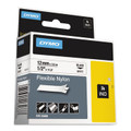 Dymo 18488 RhinoPRO 1/2 White Flexible Nylon Labels