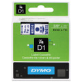 Dymo 40914 Label Machine Tape, 3/8 In, Blue on White