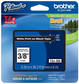 TZe325 White On Black Ptouch Tape