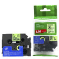 Compatible Black On Fluorescent Green P-touch Tape