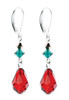 Red Crystal Christmas Earrings available at the 2014 Grand Central Terminal Holiday Fair