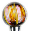 Colorful Blown Glass Wine Stoppers - Brown,Yellow,Purple,Navy