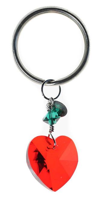 Heart Christmas Key Ring - Holiday