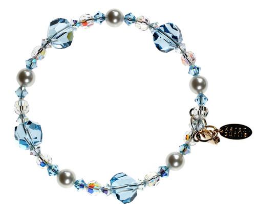 Blue Crystal Bracelet - March Birthstone