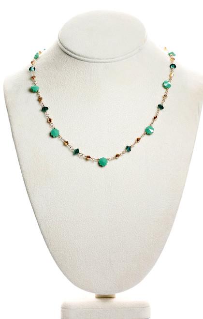 Green Flower Necklace