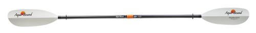 Aquabound Sting Ray Kayak Paddle - White Fiberglass Blade with 2-Piece Carbon Shaft with Posi-Lok