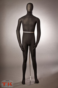 Male Mannequin, Flexible Posable Full-size In Black