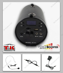 VoiceBooster MR-AK38 (Aker) 25watt Voice Amplifier with Built-in MP3 player & FM Radio
