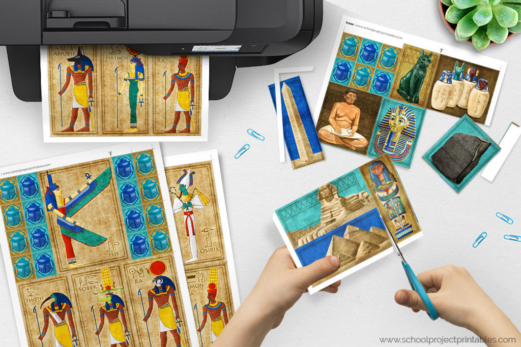 Print the downloadable file and cut out your ancient Egypt clip art.