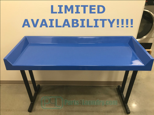 """CACO 24"""" x 60"""" Regal Blue Fiberglass Folding Table"""