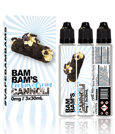 BAM BAM'S COOKIES & CREAM CANNOLI 90ML (MSRP $25.00)