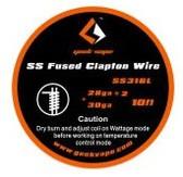 Geek Vape SS Fused Clapton Wire (SS316L 28GA*2 + 30GA) 10ft 1pc (MSRP $10.00)