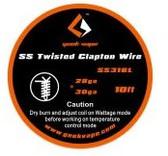 Geek Vape SS Twisted Clapton Wire (SS316L 28GA*2 + 30GA) 10ft 1pc (MSRP $10.00)
