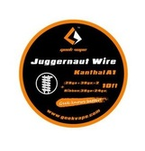 Geek Vape Juggernaut Wire *Kanthal A1* ({28ga +38ga}*2 + Ribbon{38ga*24ga}) 10ft 1pc (MSRP $10.00)