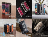 Snake Skin Therion DNA166 Box Mod Black Frame + Carbon Fiber By Lost Vape (MSRP $170.00)