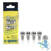 Ooze Quartz Dome Dual Coils - Pack of 5 *Drop Ships* (MSRP $25.00)