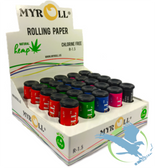 MyRoll Rolling Paper Assorted Color Tubes - Pack of 25 *Drop Ships* (MSRP $95.00)