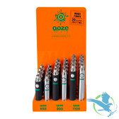 Ooze Battery Display 12 pcs. Chrome and 12 pcs. Black - Pack of 24 *Drop Ships* (MSRP $228.00)