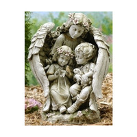 Angel with Children Garden Statue