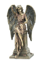Angel Sitting On Tombstone With Roses