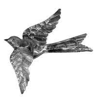 3D Bird (2) Hand Crafted Metal Wall Art