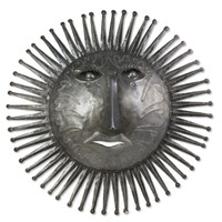 Deep Dish Sun Hand Crafted Metal Wall Art