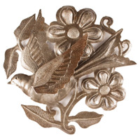 Floral Flitter 3-D Hand Crafted Metal Wall Art