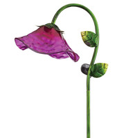 Solar Bell Flower Stake - Purple