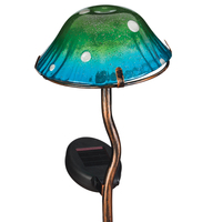 Mini Solar Mushroom Stake - Blue and Green