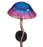 Mini Solar Mushroom Stake - Purple and Fuchsia