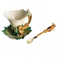 Endless Beauty Giraffe Cup/Saucer/Spoon