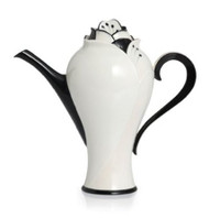 Hand made and Hand Painted porcelain tea pot by Kathy Ireland