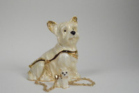 Wonderous Westie Jewelry Box with Neckalce
